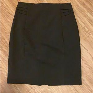 Express dark brown pencil skirt.